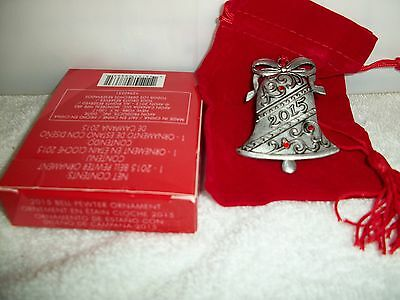 Avon 2015 Bell Pewter Ornament