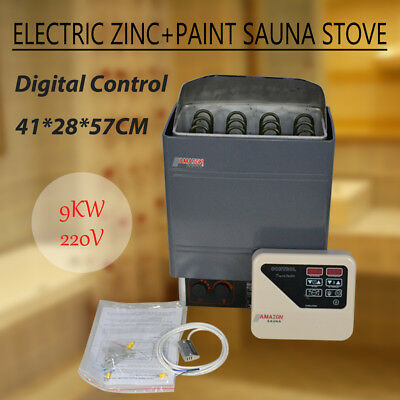 9KW Stainless Steel Sauna Electric Wet & Dry Heater Stove External Control 220V