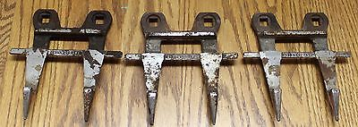Lot Of 3 Vintage Farm Equipment Parts Sickle Guards Forged Steel In Good Cond