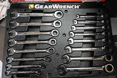 Gearwrench 16 Piece Combination Ratcheting Wrench Set Sae And Metric Mm