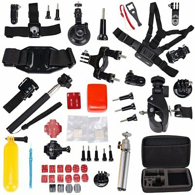 60in1 Accessories Pack Case Chest Head Monopod For GoPro HD Hero 5 4 3 3+ 2 1 SJ