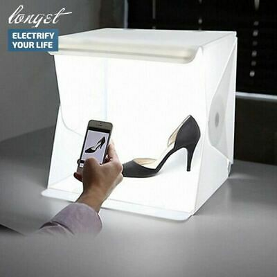 Folding Portable Lightbox Studio LED Pictures Photography with Smartphone or DSL