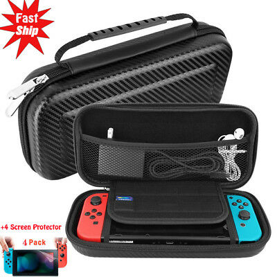 For Nintendo Switch Carbon Fiber Carrying Case Hard Shell Portable Travel Bag