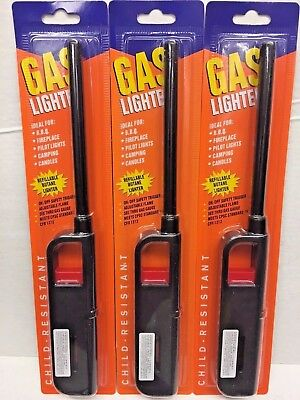 3,6,12 Pcs, Multi-Use Refillable Butane Gas Lighter, On/Off Safety Trigger