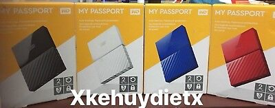 WD  2TB My Passport Portable Hard Drive and Auto Backup Software New!