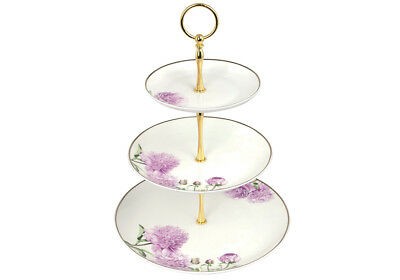 Ashdene Pink Peonies 3 Tier Cake Stand Floral Peony Flower Bone China Tea Set