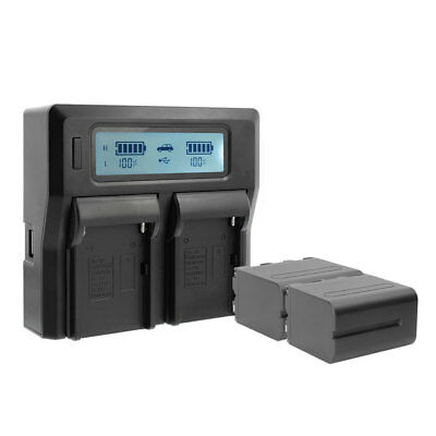 CGPro Dual Channel Charger with LCD Display For NP-F750 Battery Kit UK