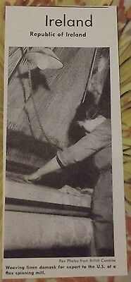 1962 Weaving Linen Damask for export to the U.S. at a flax spinning mill Ireland