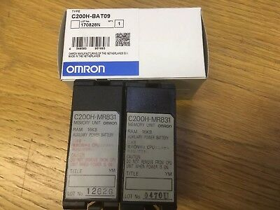 Two Omron C200H-MR831 Ram Memory Units