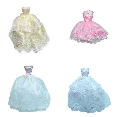 EG_ Elegant Doll Accessories Clothes Evening Lace Wedding Dress for Barbie Doll