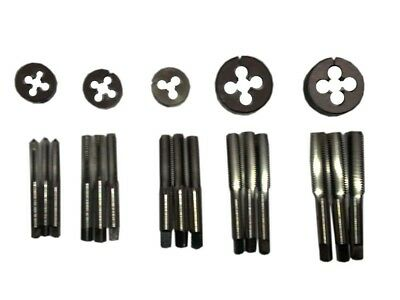 "Hss Bscy Cei Bsc 26 Tpi Cycle Thread Tap Die Set 1/4"" To 1/2"" - 20 Pcs Set New"