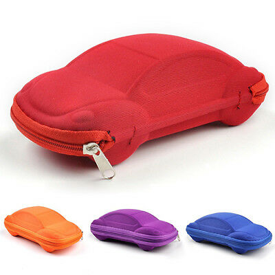 EG_ Kids Children Toddler Fashion Portable Lightweight Car Shaped Glasses Case B