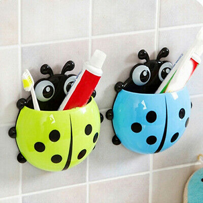 EG_ Ladybird Beetle Toothbrush Toothpaste Holder Rack Bathroom Shelves Stunning