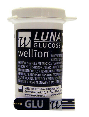 Replacement strips for Blood Glucose FOR USE ONLY WITH THE LUNA DUO meter x 50