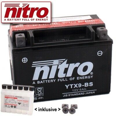 Batterie Yamaha VP250 X-City SG19 Bj. 2008 Nitro YTX9-BS