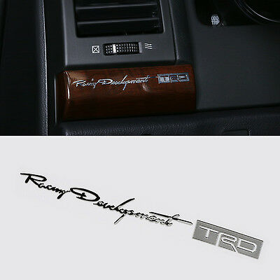 High Quality TRD Alloy Sticker Racing Badge For Toyota MR2 Auris Prius Yaris