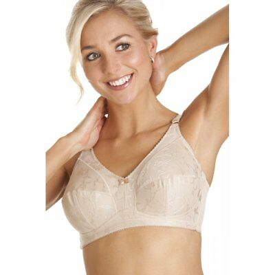 Camille Womens Ladies Lingerie Underwear Beige Non Wired Full Cup Support Bra
