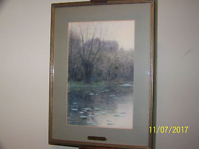 "Charles Warren Eaton 1893 ""The Met At Central Park"" American Tonalist Framed"