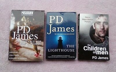 Mixed Lot of 3 P.D. JAMES THE LIGHTHOUSE, A SUITABLE JOB FOR A WOMAN, CHILDREN