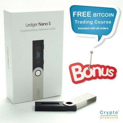 Ledger Nano S Hardware Cryptocurrency Wallet - Secure Offline Storage BRAND NEW