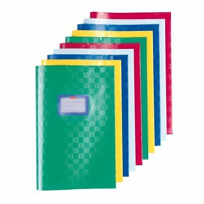 Herlitz Bast Structure A4 Exercise Book Cover - Assorted Colours  Pack of 10