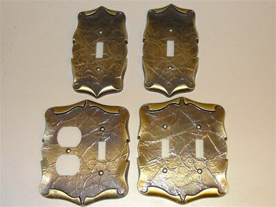 4 Vintage AMEROCK Carriage House Single Double Combination * Switch Cover Plates