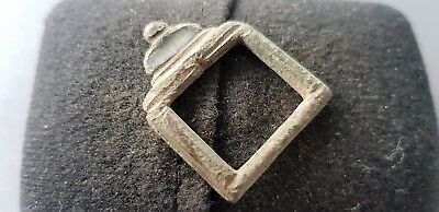 Lovely Tudor Post Medieval copper alloy buckle found in England L75i