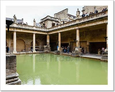 Ancient Roman Baths In The City Of Art Print Home Decor Wall Art Poster - C