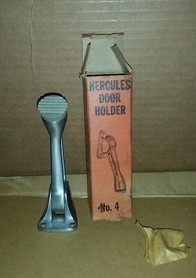 Vintage NOS BRONZE HEAVY DUTY HERCULES DOOR HOLDER GLYNN JOHNSON Rubber End