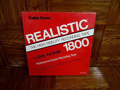 Radio Shack Realistic 7 Inch Reel To Reel Recording Tape 1800 High Fidelity