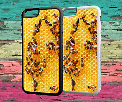 Bee Keeping Honey Bees Rubber Phone Case Iphone 4 4S 5 5S SE 6 6S 7 8 X PLUS