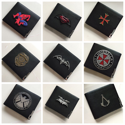 Marvel Avengers Agents of S.H.I.E.L.D.Shield Badge in Leather Wallet or Holder