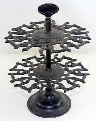 Antique 19th Century 2 Tier Cast Iron Rubber Stamp Rack Holder