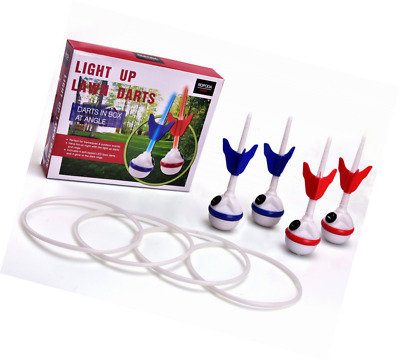 LED Lawn Darts Game-Glow In The Dark Game Set-Outdoor Family Game for Backyard,