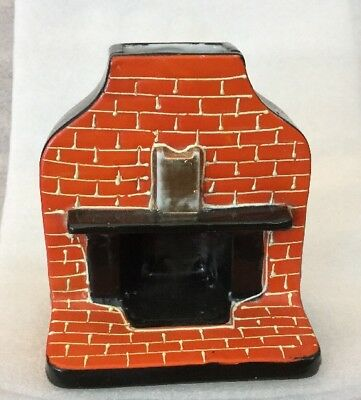 "Dollhouse Miniature Furniture Ceramic 4"" Fireplace by Gold Castle Made in Japan"