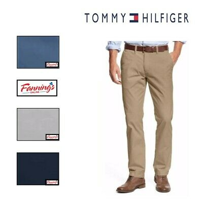 Tommy Hilfiger Chino Pants Men's Tailored Fit Flat Front VARIETY SZ/CLR - F21