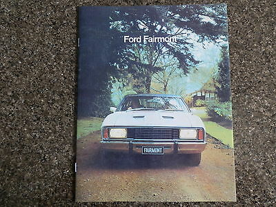 1976 Xc Ford Fairmont And Fairmont Gxl Brochure.  100% Guarantee.