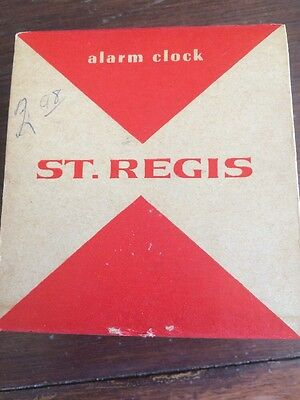 St Regis Alarm Clock Original Box