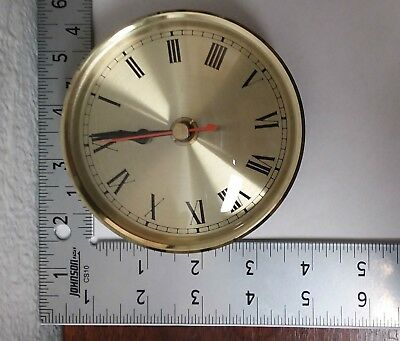 "4"" Roman Numeral Brass/Gold Color Clock Face DIY/Replacement"
