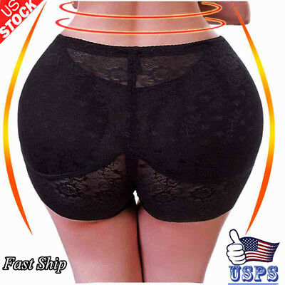Padded Women Lace Butt Lift Bum Hip Enhancer Panty Briefs Body Shaper Underwear