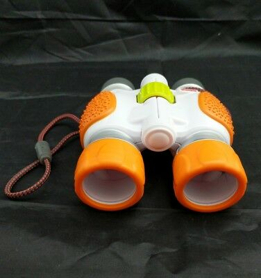 Fisher Price Kid Tough Toy Binoculars Orange EUC WORKS