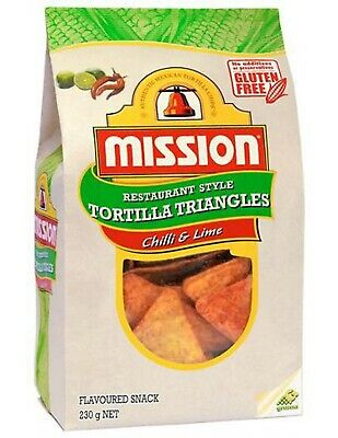 Mission Chilli And Lime Corn Chips 230gm x 6