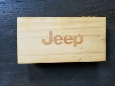 Rare JEEP Folding  Multi Function KNIFE With Wooden Box 2 Blades Dual Free Ship