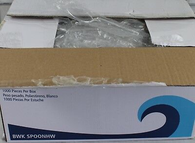 NEW Boardwalk Spoon Heavy Weight 1,000 Piece Box Clear Individually Wrapped