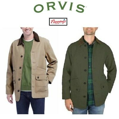 New! Men's Orvis Classic Collection Canvas Quilted Lined Barn Jacket! Variety!