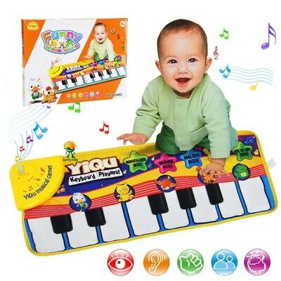Kids Educational Toys Musical Piano Children Learning Animal Music Baby Play Mat