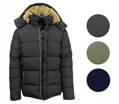 Mens Heavyweight Snorkel Jacket Parka Coat Outerwear W/Fur Lined Hood Detachable
