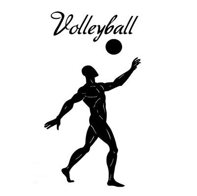 Volleyball Sport car decal sticker truck