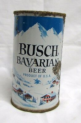 Busch Bavarian Beer Flat Top Can Anheuser-Busch Los Angeles Ca