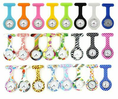 Silicone Nurse Watch Brooch Tunic Fob Watch With Free Battery